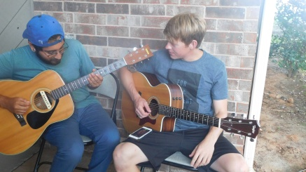Alex and Zion jamming - Tyler, TX (Photo by Cali)
