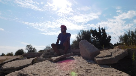 Alex Ruiz at Santa Rosa Lake State Park - NM (Photo by Cali Togo)
