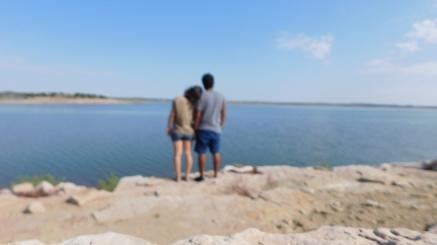 Cali and Alex at Santa Rosa Lake State Park - NM (Photo by Cali Togo)