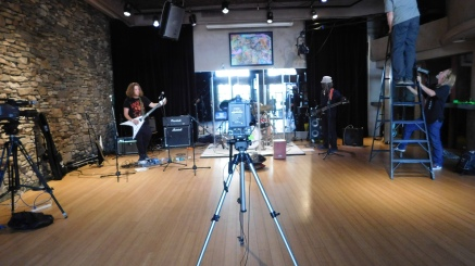Azi and the boys - Wave Street Studios, Monterey, CA (Photo by Cali Togo)