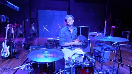Zion on drums at Golden State Theatre - Monterey, CA